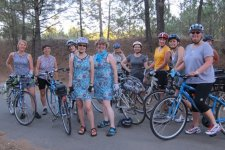 Belles and Baskets Spokane women's bike club on a ride in August 2011