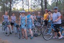Belles and Baskets Spokane women's bike club on a ride in August 2011