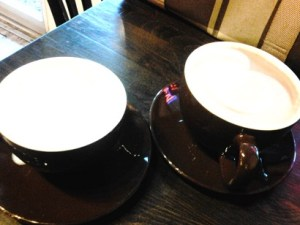 Mayan mocha and eggnog latte, Van Gogh Coffeehouse.