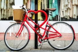 heart bike hoop