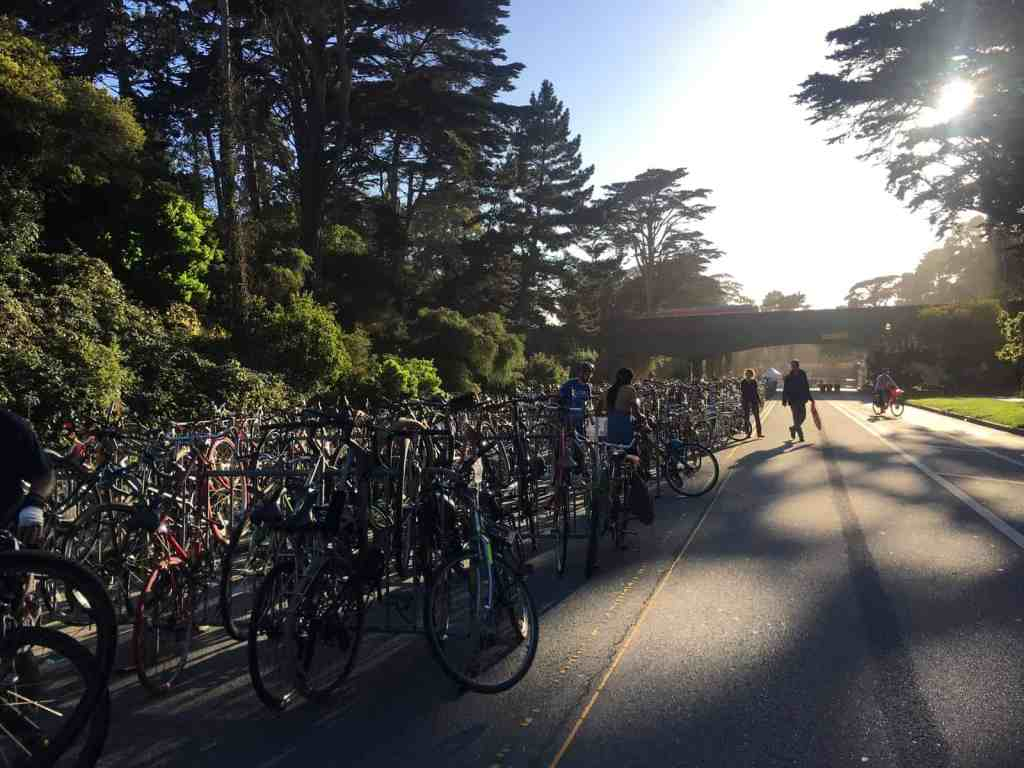hardly strictly bicycle racks for self parking
