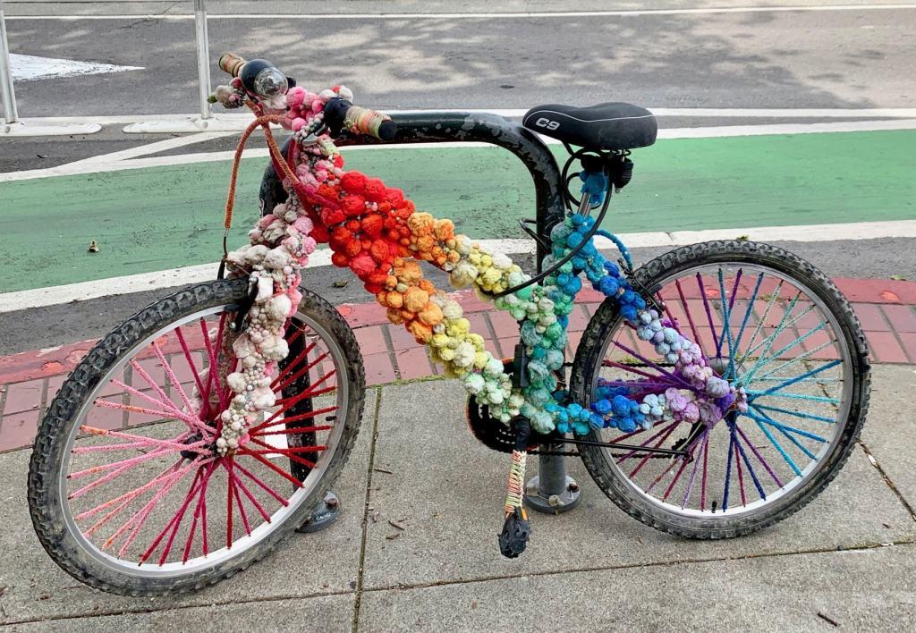 Colorful Fun Burning Man Bicycle