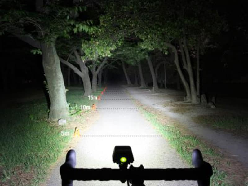 winter biking with a headlight