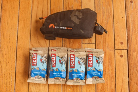 8 (Eight) Clif Bars will fit inside the Bedrock Dakota
