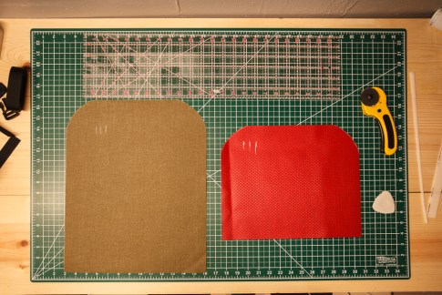Tool Roll Fabric Pieces