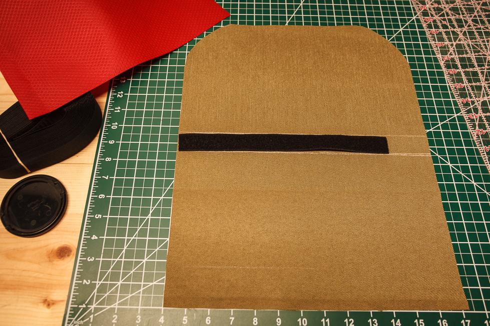 Velcro loop on shell
