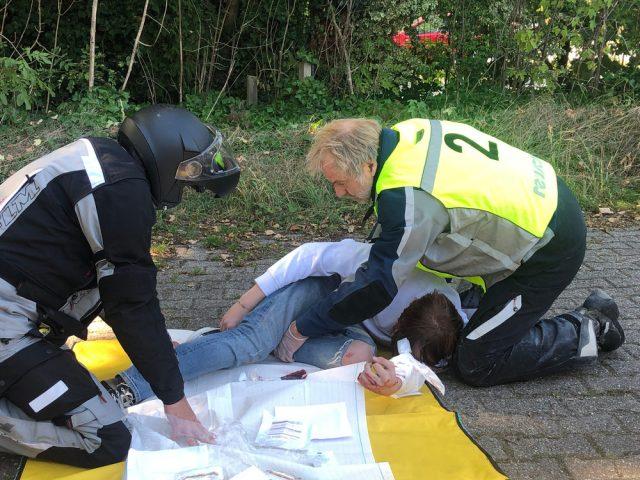 Versorgung eines Unfallopfers