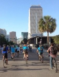 Downtown riders