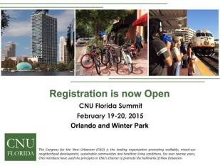 CNU Florida Summit: Registration Now Open!