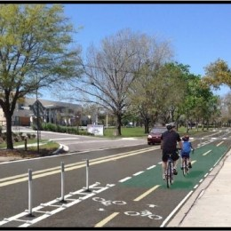 BWCF Supports Cycle Tracks on Cady Way By Brookshire Elementary