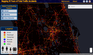 Interactive map visualizes 10 years of U.S. traffic fatalities – 58% involved alcohol, distracted driving or speeding