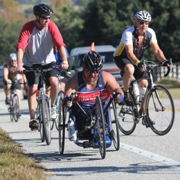 Cyclists at the Horrible Hundred in Clermont, FL.  Photo taken by Tom Benitez, Orlando Sentinel.