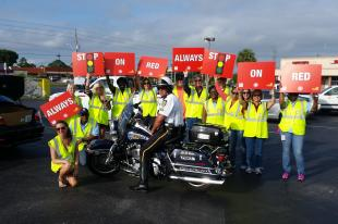 BFF hits the streets for Stop on Red Week