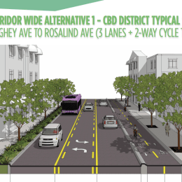 Road diet for Robinson Street?