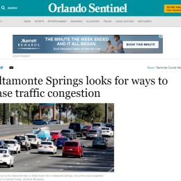 Orlando Sentinel: Altamonte Springs looks for ways to ease traffic congestion
