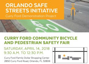 Don't miss the Curry Ford Bike and Pedestrian Safety Fair happening 4/14