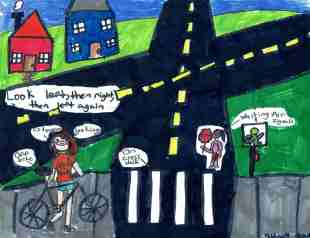 OCPS students win statewide poster contest promoting safe walking and biking