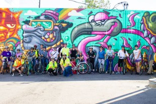Bicyclists Brake for Art during Mobility Week