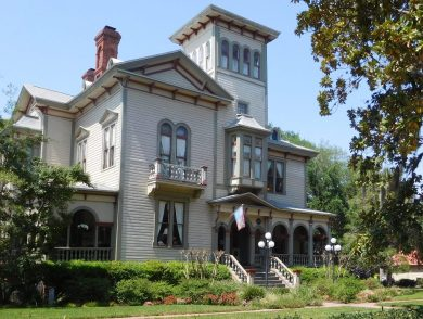 The 1885 Fairbanks House, now a bed and breakfast, is one of the most impressive residences in the Fernandina Beach historic district.