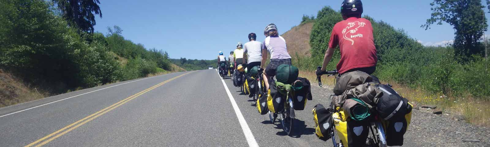 Touring Washington by bike in summer camp
