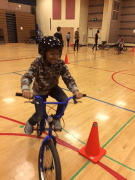 Youth enjoying the ride around the obstacle course