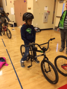 Youth getting ready to ride the obstacle course
