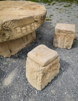 Stone picnic table