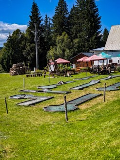 """Polly's quote """"Typical Czech minigolf"""""""