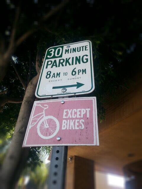 Bike Parking Sign