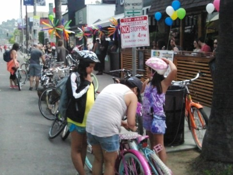 Many of the participants were children who wouldn't be allowed to ride on the busy boulevard any other day.