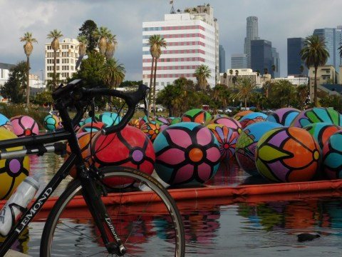 The obligatory MacArthur Park Lake balls shot
