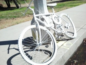 The ghost bike for James Rapley on Temescal Canyon