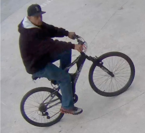 Hollywood Bicyclist Robber Sought