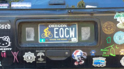 Oregon Share the Road License Plate