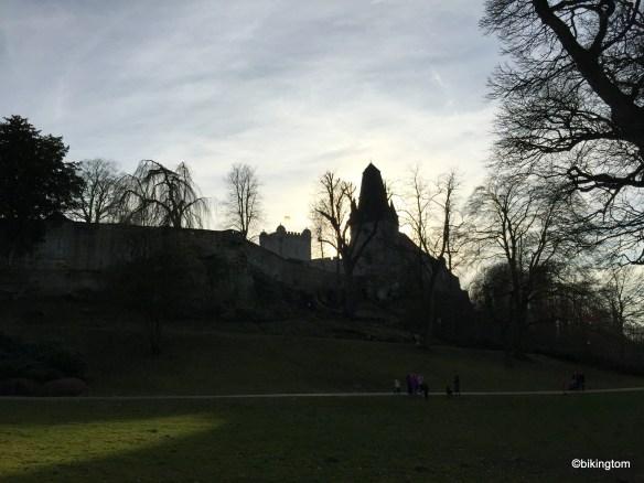 Burg Bentheim im milchigem Abendlicht