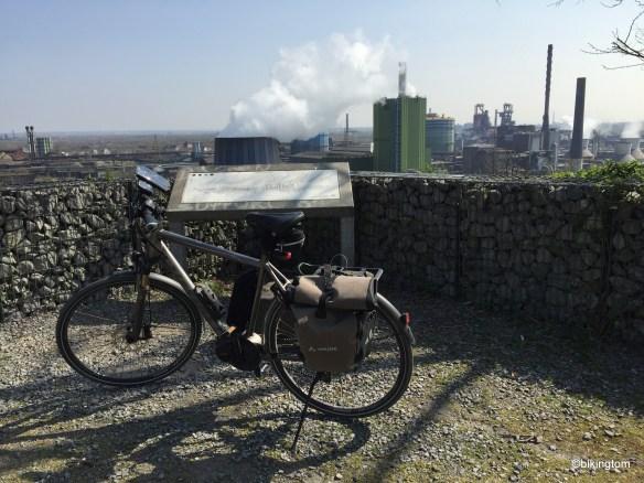 Industrielandschaft von oben.