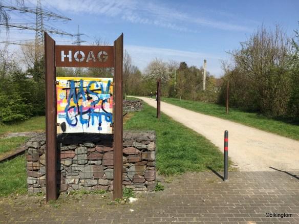 Start der HOAG-Trasse in Duisburg.