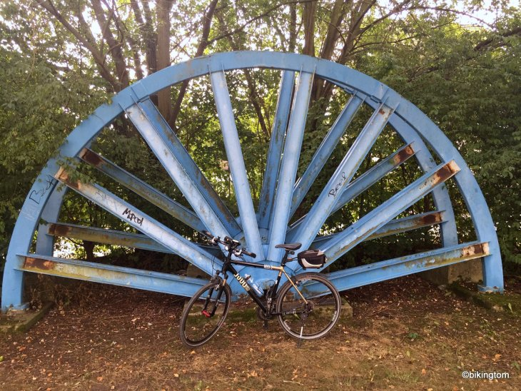 Fahrradtour bikingtom Zechenbahn Zeche Relikt Förderrad