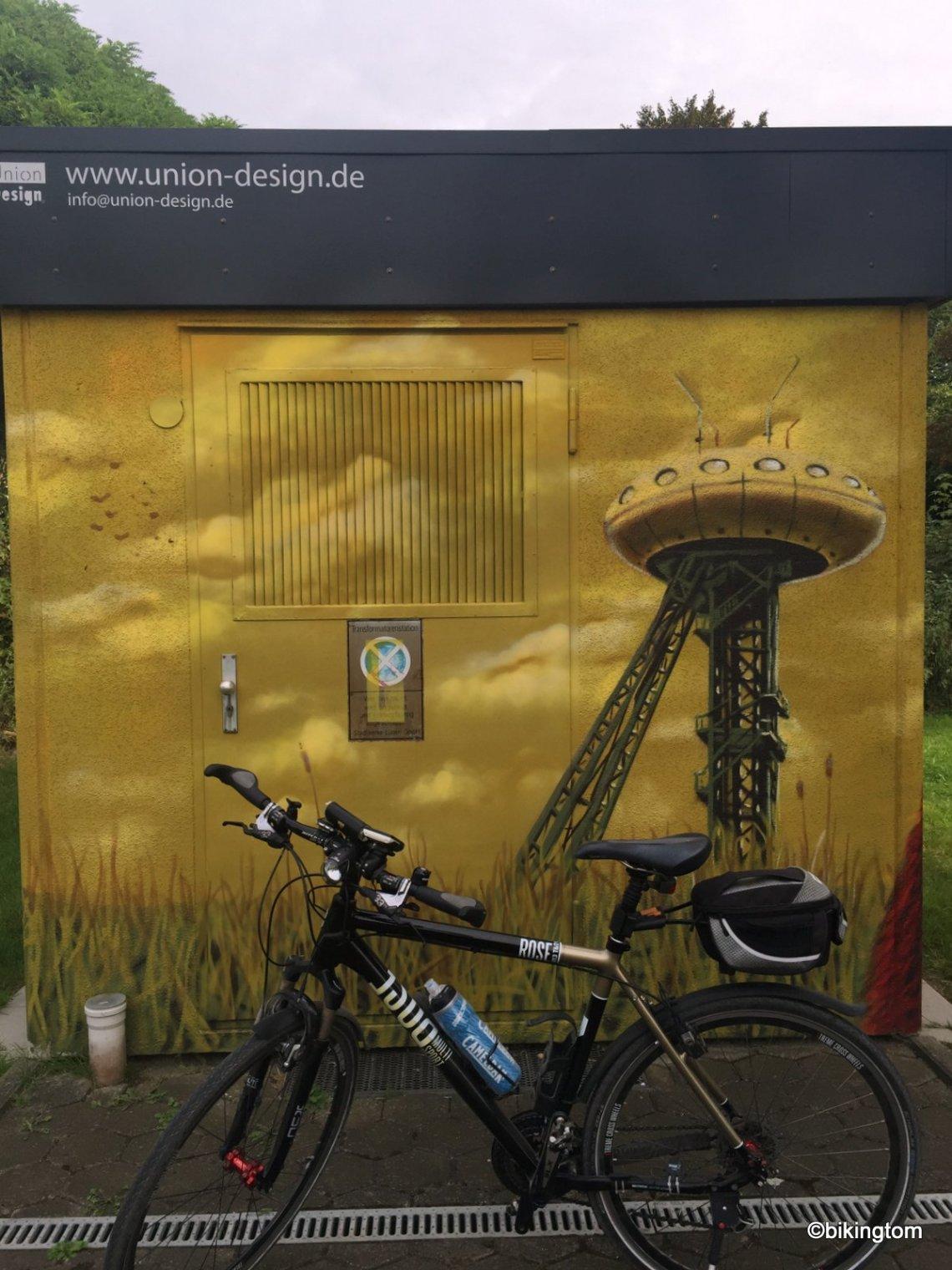 Fahrradtour bikingtom Kamen Werne Lünen Colani Ufo Colani-Ei