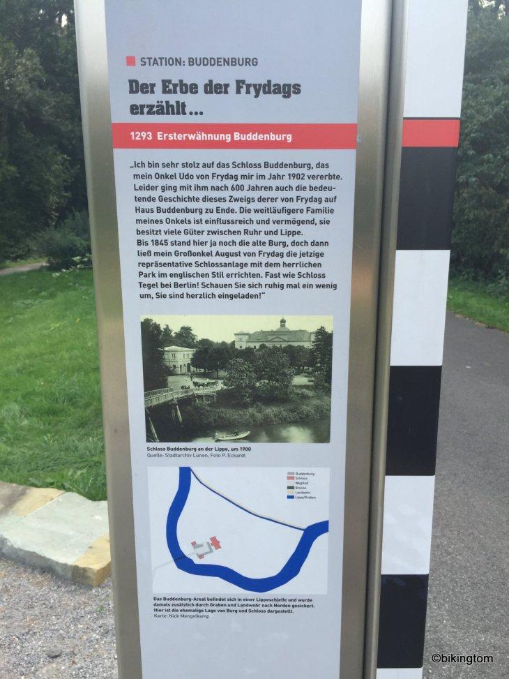 Fahrradtour bikingtom Schloss Buddenburg Lippe