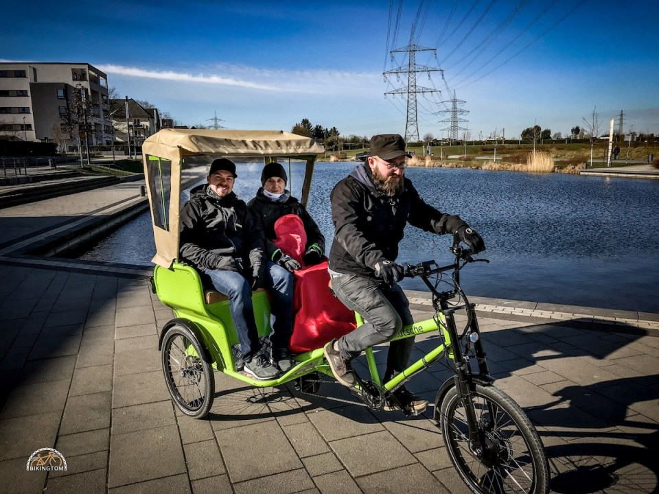Radfahren,Papa,Vater,Rikscha