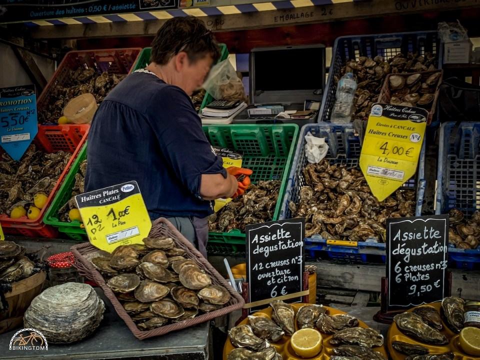 Bretagne,Radtouren,Fahrrad,Cancale,Austern