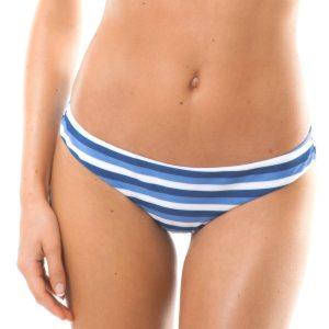 Weiß blau gestreifte brasilianische Bikinihose - Calcinha Maresia Sporty