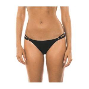 Bikini Tangahöschen, schwarz, mit Mehrfachbändern - Calcinha Tiras Trio
