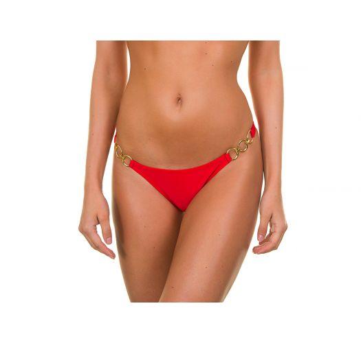 Bikini Höschen rot, mit Ringen - Red Trio