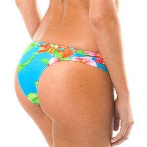 Blau tropisches Bikini-Unterteil - Rio de Sol