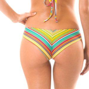 Buntgestreifte sportliche Brasil Bikinihose - Calcinha Canarinho Sporty