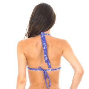 Triangle Brasil Bikini-Top Jeansblau bedruckt - Rio de Sol