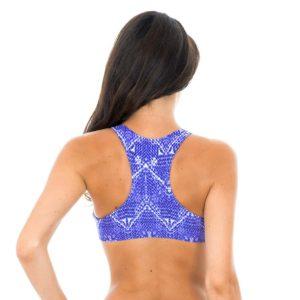 Sportliches Bandeau Bikini Oberteil Blue-Jeans - Rio de Sol