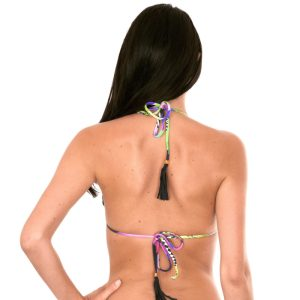 Tropisch gemustertes Bikini Top mit Quasten - Rio de Sol